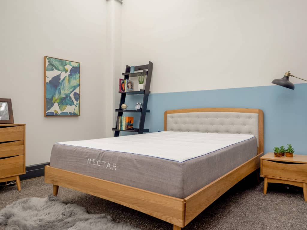 Nectar mattress on bed frame