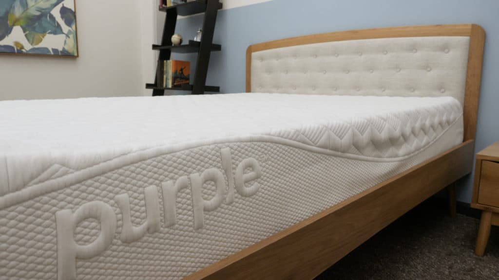 Purple mattress side view