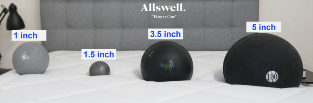 Allswell Luxe Hybrid sinkage