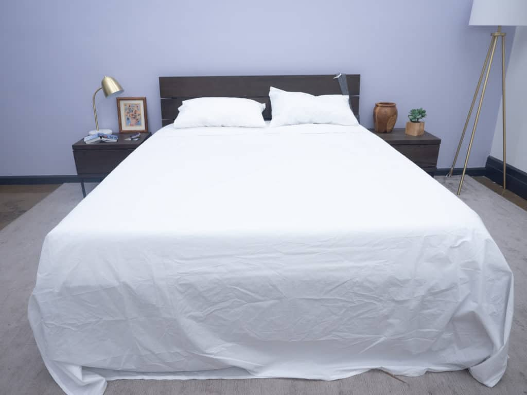 Brooklinen sheets on bed