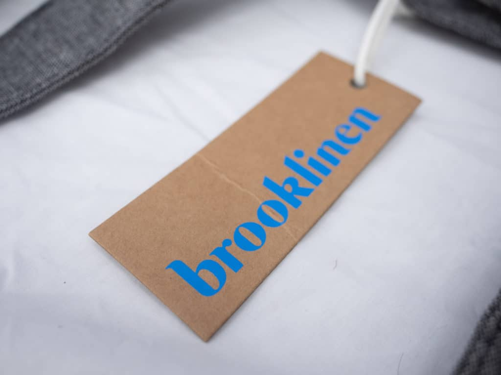 Brooklinen sheets tag