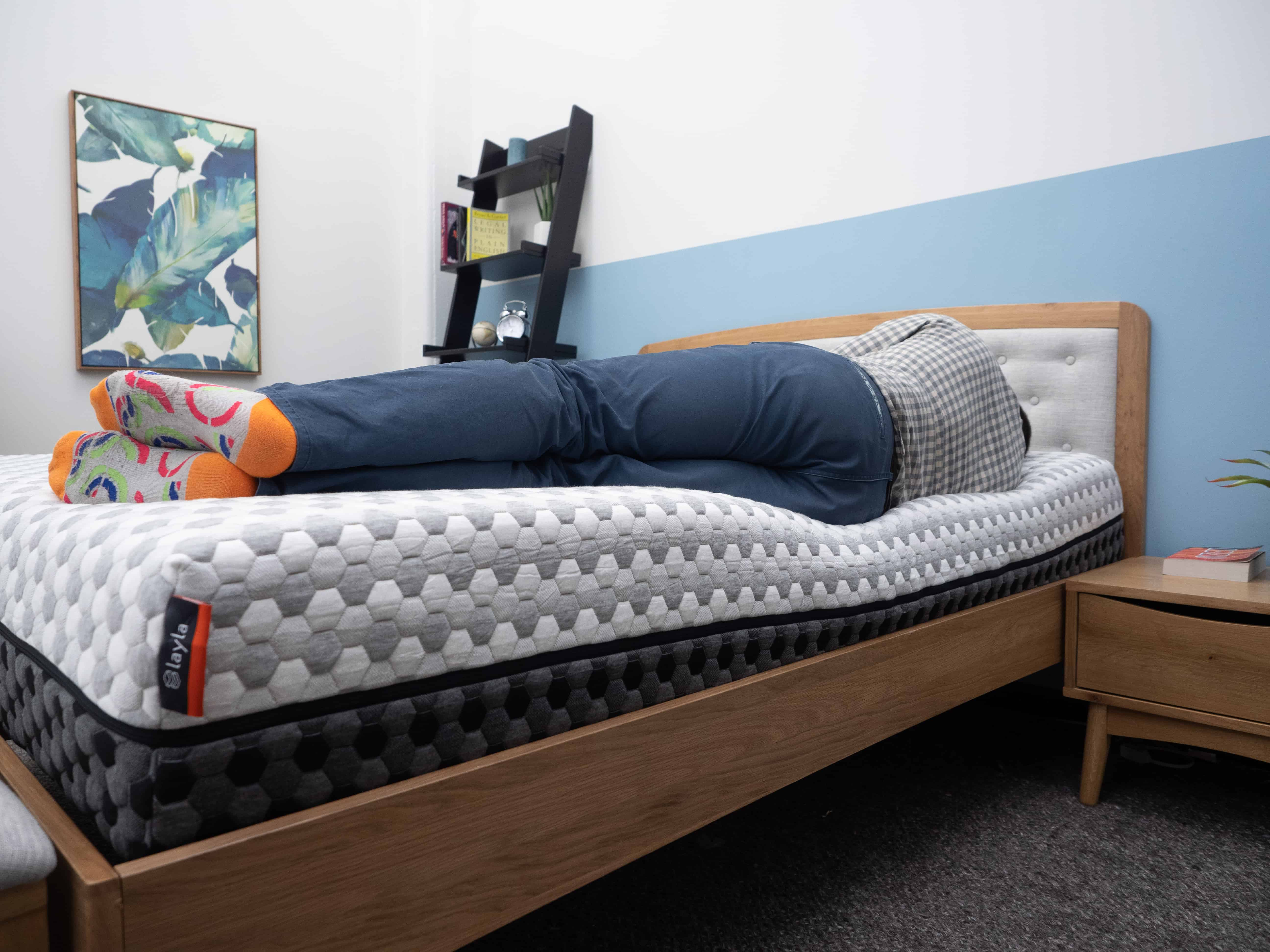 Side sleeping on the Layla mattress