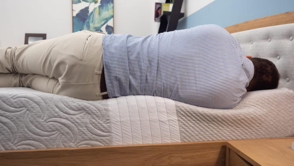 Side sleeping on the Level Sleep mattress