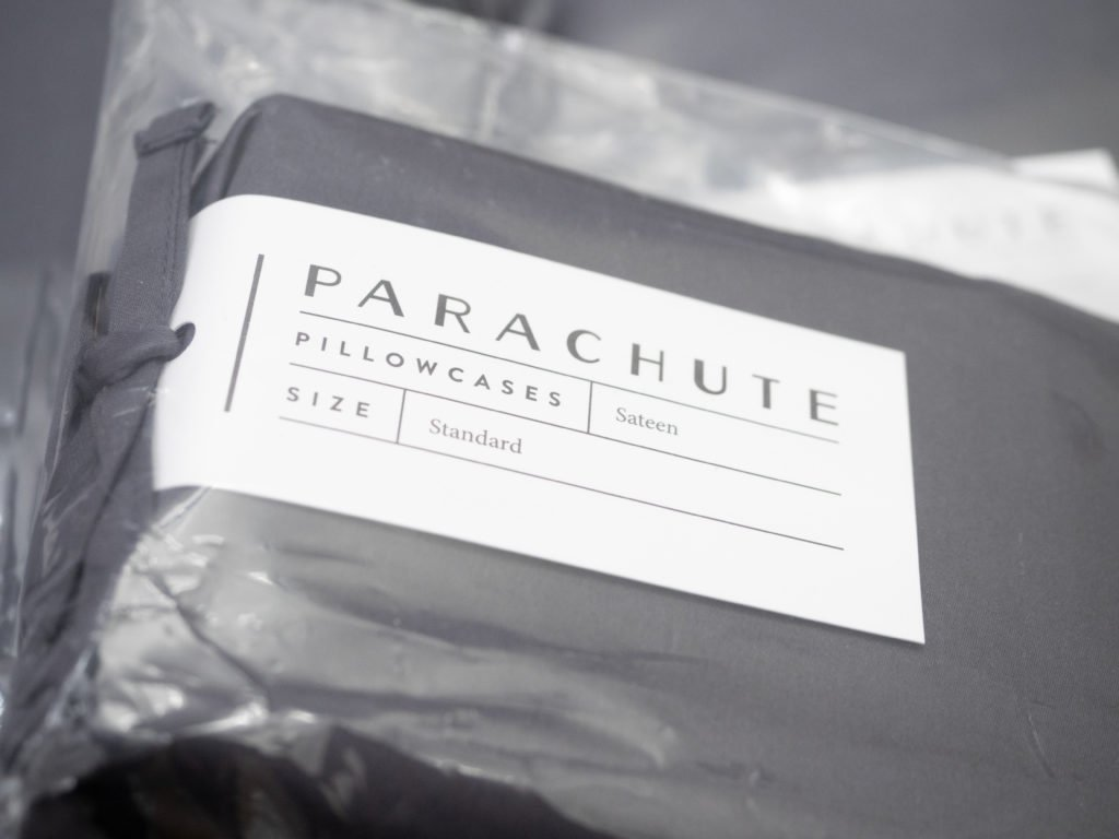 Parachute sheets packaging