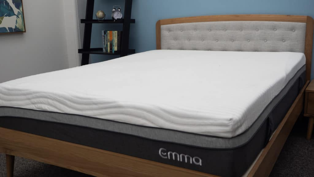 Emma mattress on bed frame