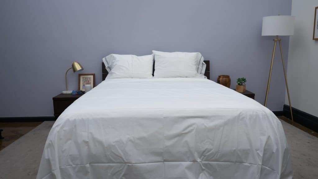 Frette Sheets on a bed