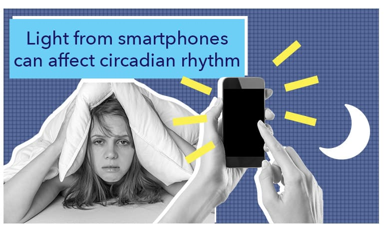 Light from smartphones can affect circadian rhythm