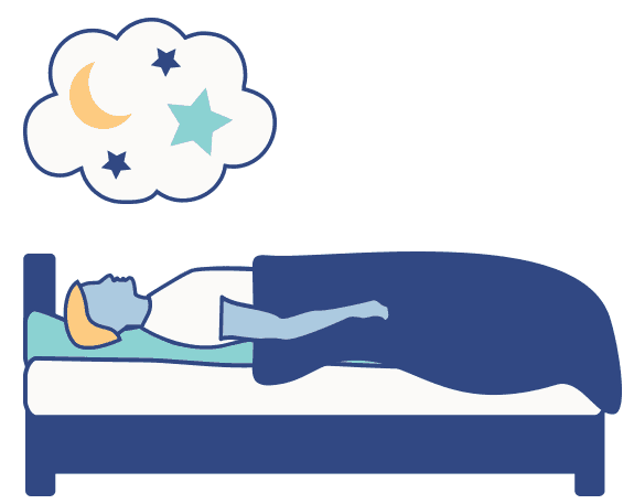Sleep Education article graphic, REM sleep dreams