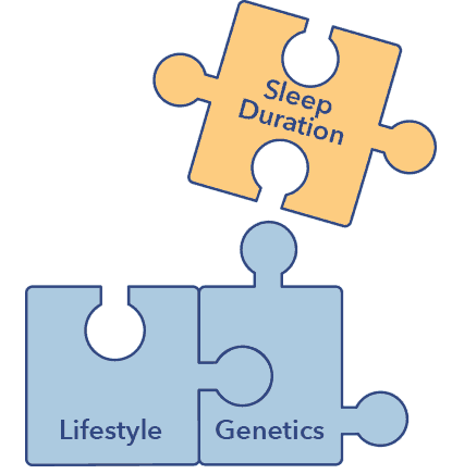Sleep A-Z article graphic, sleep duration