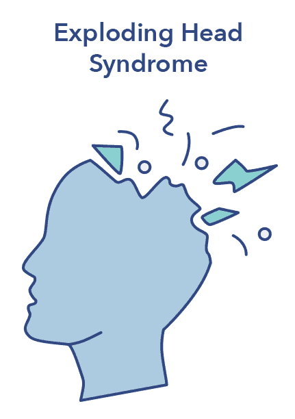 Exploding head syndrome graphic, N3 sleep article