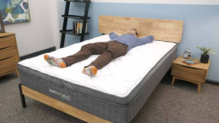 Back sleeping on the GhostBed Flex mattress