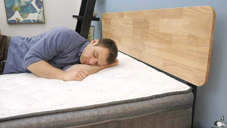Side sleeping on the GhostBed Flex mattress