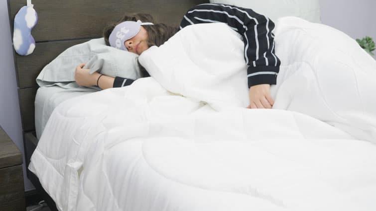 Sleeping beneath the Buffy Breeze comforter