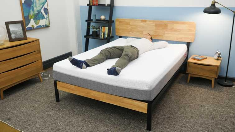 Back sleeping on Endy mattress