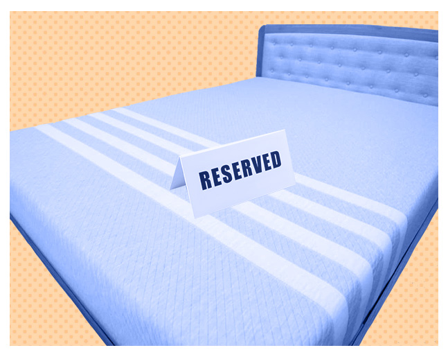 Reserve bed for sleep only