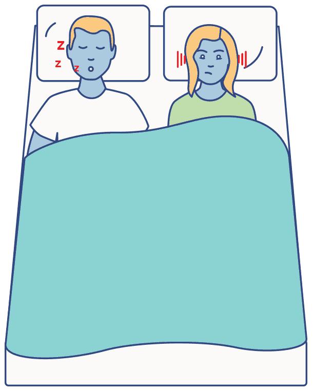 Snoring graphic, sleep apnea article