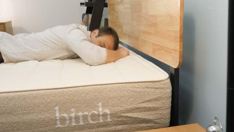 Birch Mattress Stomach Close