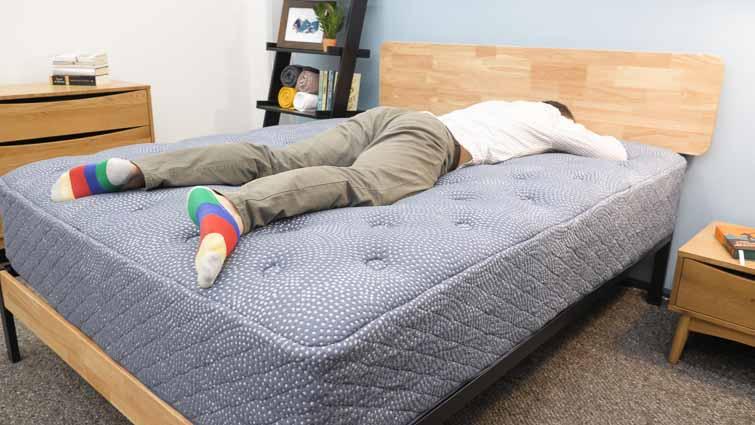 Stomach sleeping on the Luft Hybrid mattress