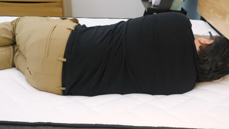 Side sleeping on the Brooklyn Bedding Titan mattress