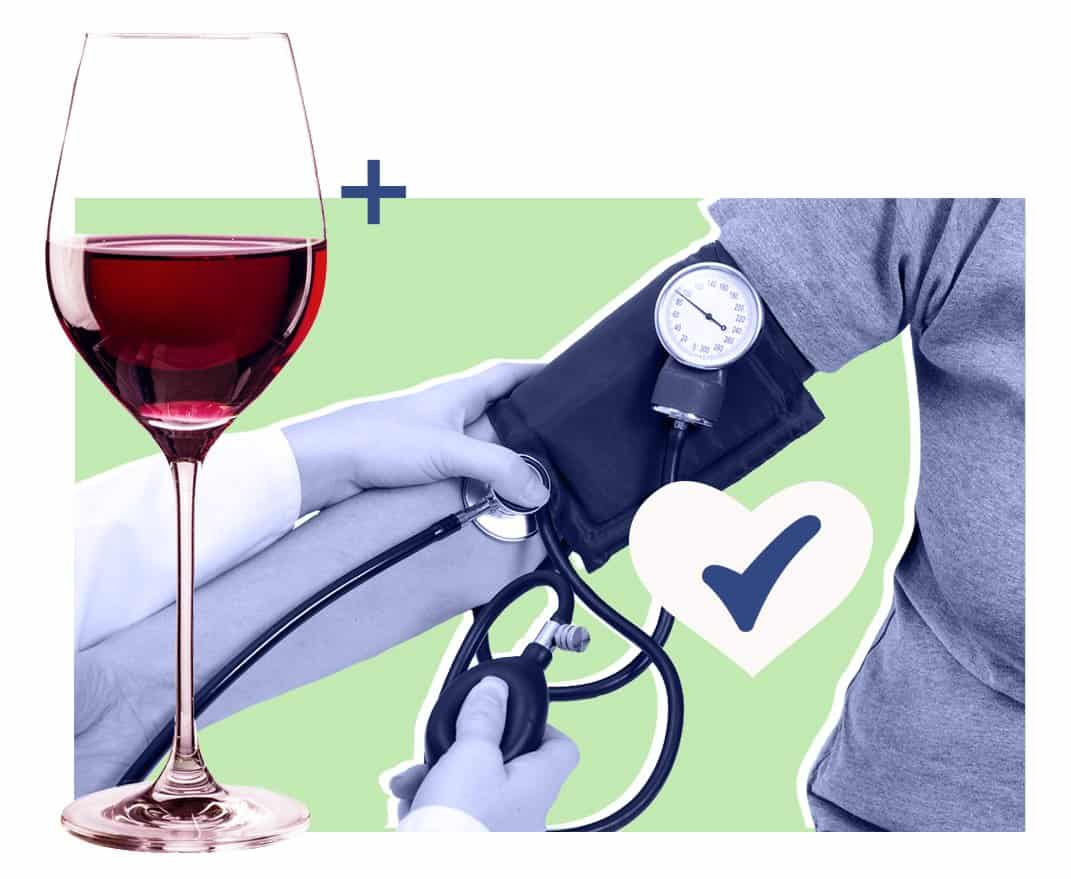 Blood pressure graphic, Alcohol and Sleep article