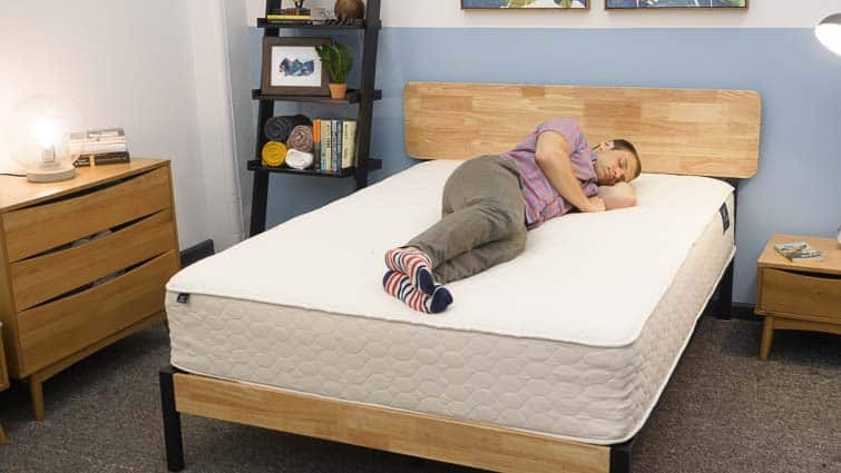 Side sleeping on the WinkBeds EcoCloud Mattress