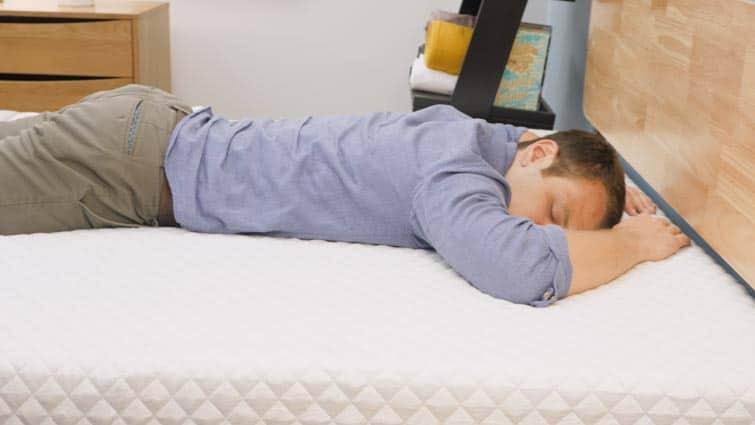 Stomach sleeping on the Leesa Hybrid mattress