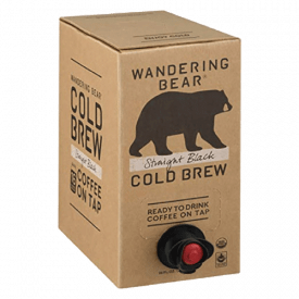 Wandering Bear Organic Cold Brew Coffee, Straight Black