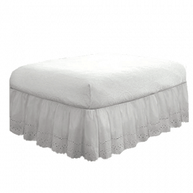 Fresh Ideas Bedding Eyelet Ruffled Bedskirt