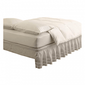 EasyFit Wrap-Around Eyelet Ruffled Bed Skirt