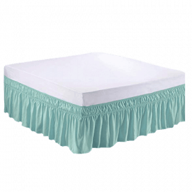 MEILA Wrap-Around Elastic Solid Bed Skirt