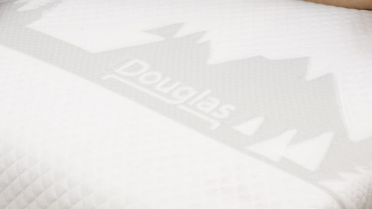 Douglas mattress logo and tag