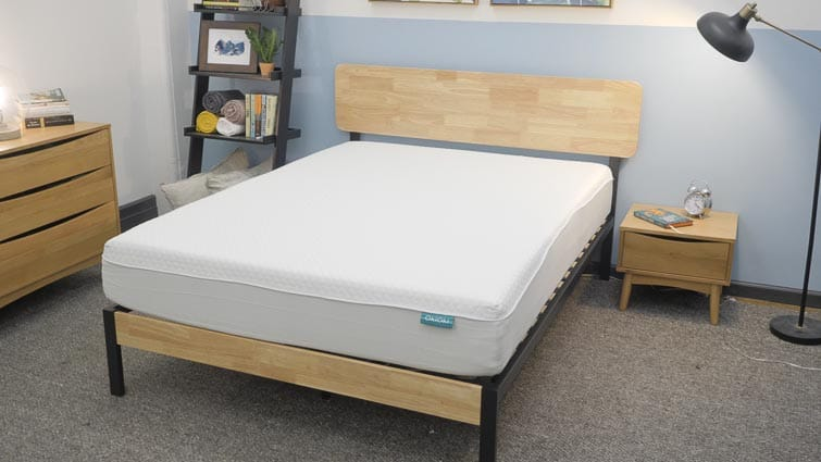 OkiOki mattress on bedframe