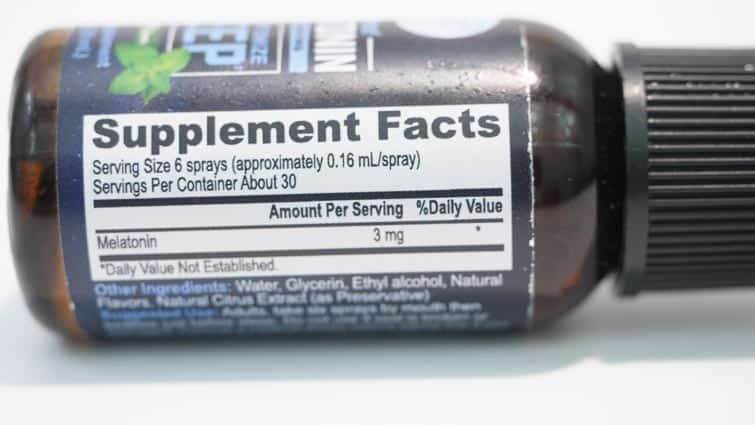 Ingredients of Onnit Instant Melatonin Spray