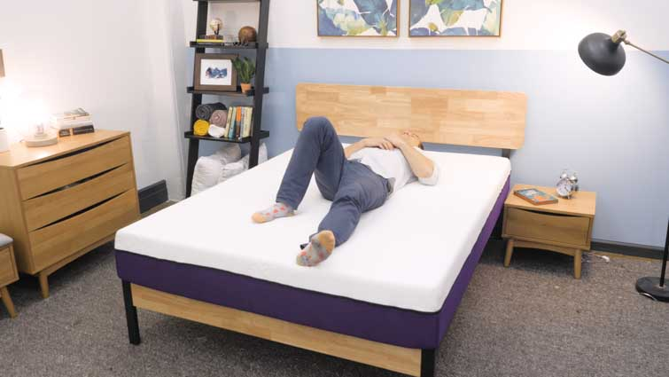 Back sleeping on the Polysleep mattress