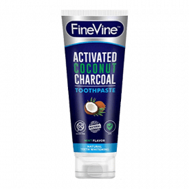FineVine Activated Charcoal Coconut Whitening Toothpaste