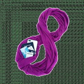 WAYPOINT GOODS Travel Infinity Scarf with Secret Hidden Zipper Pocket