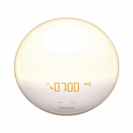 Philips Wake-Up Light Alarm Clock with Colored Sunrise Simulation & Sunset Fading Night Light