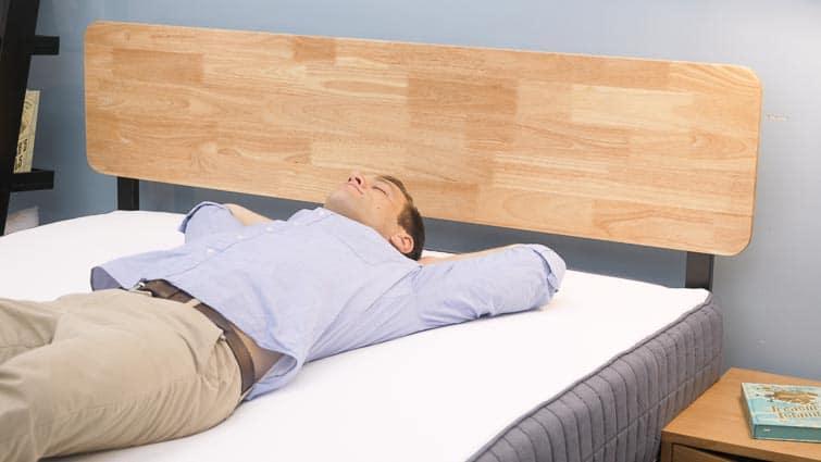 Back sleeping on the SweetNight mattress
