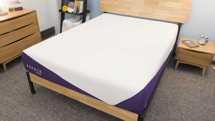 Zephyr mattress in bedroom