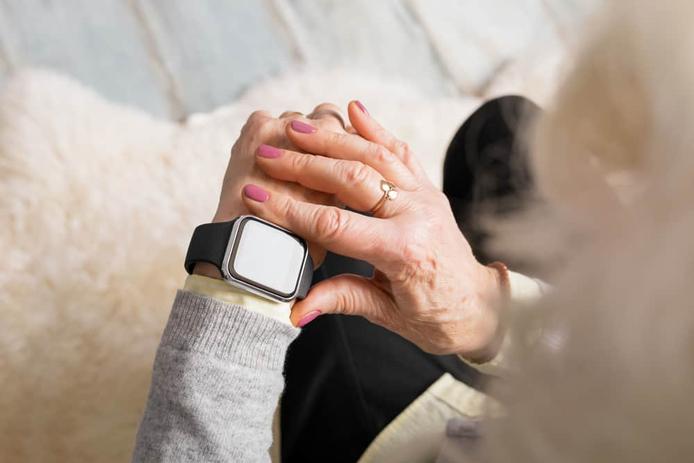 Person Using a Smart Watch