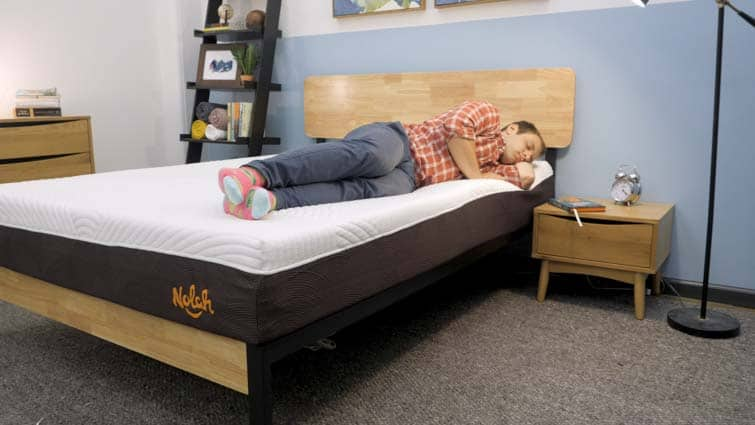 Side sleeping on the Nolah Signature bed
