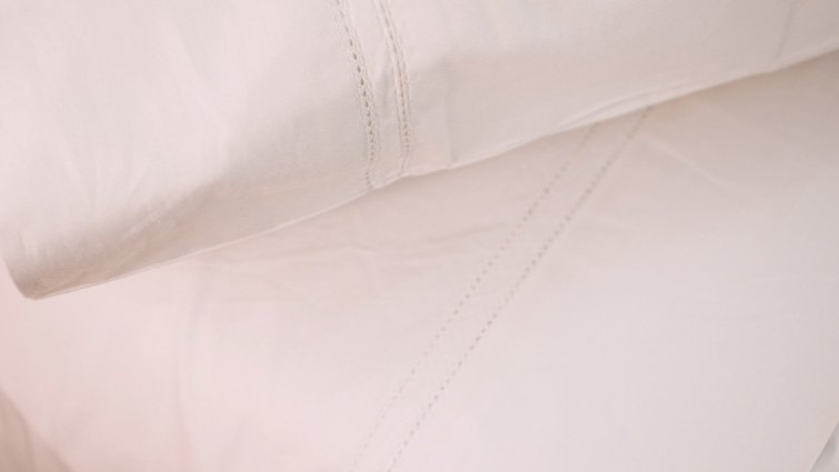 double hemstitch percale