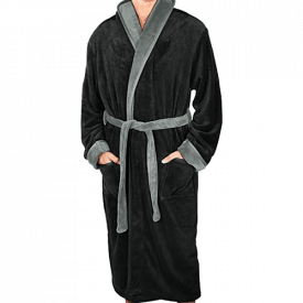 NY Threads Luxurious Men's Fleece Bathrobe
