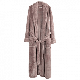 Richie House Women's Fleece Bathrobe