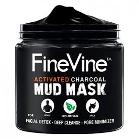 FineVine Organics Activated Charcoal Mud Mask