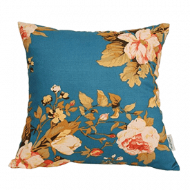 TangDepot Floral/Flower Printcloth Decorative Throw Pillow Covers