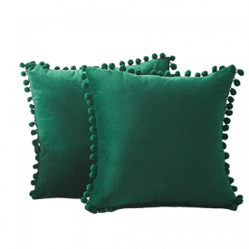 Top Finel Decorative Throw Pillow Covers with Pom-poms