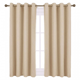 "NICETOWN Grey Blackout Curtains (52"")"