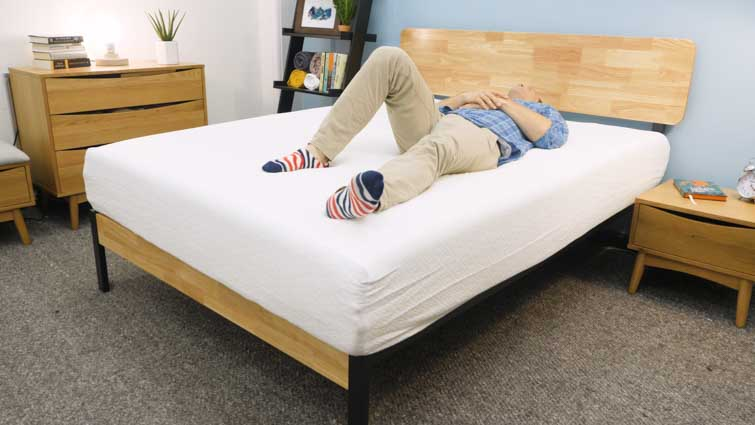 Back sleeping on the Zinus Memory Foam mattress