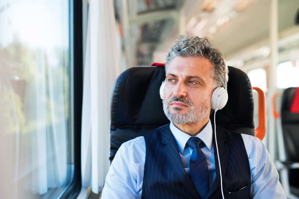 Man in Noise Cancelling Headphones